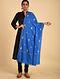 Blue Sozni Embroidered Pashmina Stole