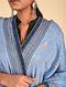 Blue-Red Sozni Embroidered Pashmina Stole
