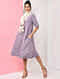 Purple Natural-dyed Handloom Cotton Dress with Pockets