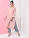 Pink Natural-dyed Handloom Cotton Kurta