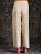 Ivory Tie-up Waist Tussar Munga Silk Pants with Embellishment