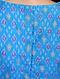 Blue Handloom Silk Ikat Blouse