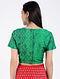 Green Handloom Silk Ikat Blouse