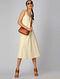 Ivory-Yellow Reversible Cotton Khadi Dress