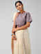 Purple Handloom Cotton Blouse