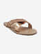 Rose Gold Handcrafted Leather Flats