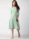 Green Button-down South-cotton Dress