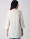 White Khari-printed Cotton Short Kurta with Pleats