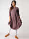 Purple Handloom Cotton Kurta with Silk Trim by Jaypore