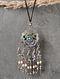 Enameled Vintage Afghan Silver Pendant