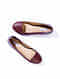 Maroon Handcrafted Patent Leather Shoes
