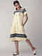 Yellow Handwoven Organic Cotton Dress with Embroidery