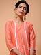 Orange Chanderi Jacket with Cotton Cutwork Slip (Set of 2)