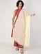 Cream Handloom Cotton Dupatta with Tassels