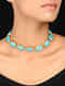 Turquoise Gold Tone Handcrafted Choker Necklace