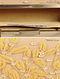 Beige Gold Embellished Silk Clutch with Sequins