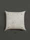 Nihal Ecru Embroidered Cottonflex and Mashroo Cushion Cover with Filler (18in x 18in)