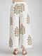 Ivory-Pink Block-printed Elasticated Waist Cotton Pants
