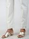 Ivory Tie-up Waist Chanderi-Cotton Pants