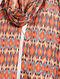 Red-Blue Printed Khadi Silk Stole