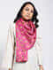 Pink Printed Khadi Silk Stole