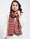 Maroon Printed Khadi Silk Stole