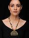 Multicolored Gold Tone Khadi Silk Necklace