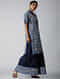 Indigo Dyed Elasticated Waist Cotton Skirt