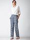 Indigo Dyed Elasticated Waist Cotton Pants