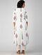 White-Pink Block-printed Cotton Kurta