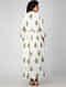 White Block-printed Cotton Dress