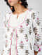 White Block-printed Cotton Cape with Dress (Set of 2)