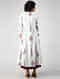 White-Maroon Block-printed Cotton Cape with Dress (Set of 2)