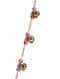 Pink Gold Tone Beaded Anklet with Ghungroo