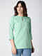 Green Cotton Chambray Top