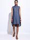 Blue Denim Hand Embroidered Dress