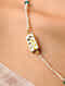 Jade and Pearl Beaded Gold Necklace With Inlay Work