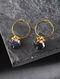Sapphire Polki Gold Earrings