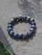 Lapis Lazuli Beaded Diamond Silver Bracelet