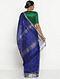 Blue Silk Cotton Saree with Zari