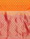 Orange Benarasi Silk Saree with Zari