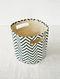 Blue-White Chevron Print Canvas Storage Basket