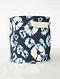 Blue-White Shibori Print Canvas Storage Basket