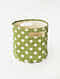 Green-White Shibori Print Canvas Storage Basket