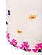 Pink-White Embroidered Canvas Storage Basket