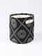 Black-White Hmong Print Canvas Storage Basket