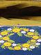 Blue - Yellow Hand Embroidered Parsi Work Batuwa Sling