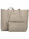 Beige Handcrafted Genuine Leather Tote Bag