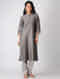 Kashish Quilted Chanderi Kurta with Embroidered Neck and Hem