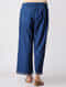 Indigo Elasticated Waist Cotton Pants with Embroidered Hem
